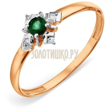 Кольцо с изумрудом и бриллиантами Т14101А156_2