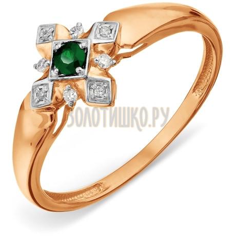 Кольцо с изумрудом и бриллиантами Т14101А157
