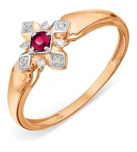 Кольцо с рубином и бриллиантами Т14101А157_3