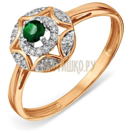 Кольцо с изумрудом и бриллиантами Т14601А126_3