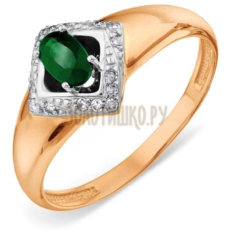 Кольцо с изумрудом и бриллиантами Т14601А194