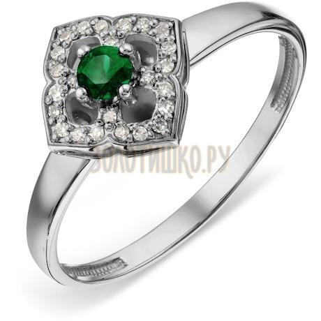 Кольцо с изумрудом и бриллиантами Т30101А004_2