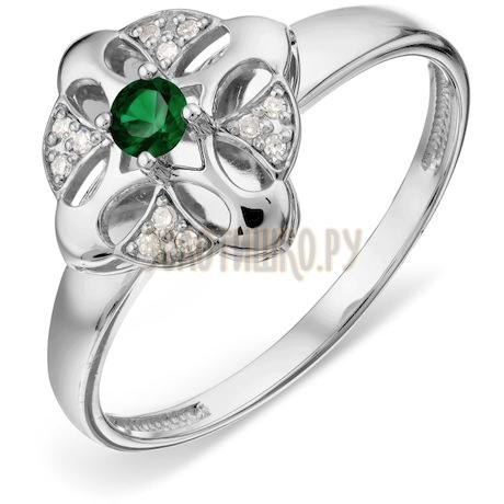 Кольцо с изумрудом и бриллиантами Т30101А006_3