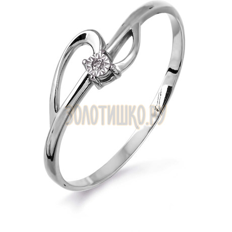 Кольцо с бриллиантом Т305613398