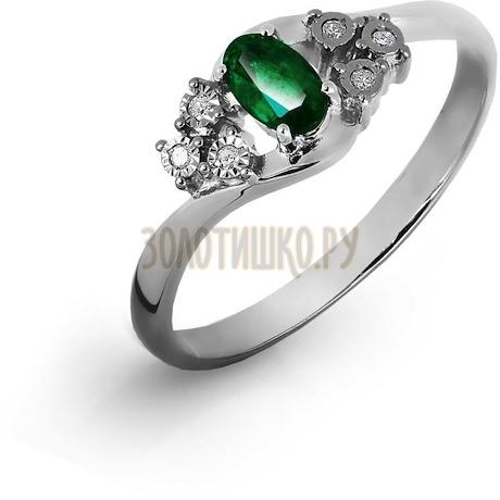 Кольцо с изумрудом и бриллиантами Т305616497