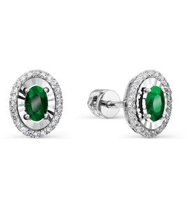 Серьги с изумрудами и бриллиантами Т305628878_3