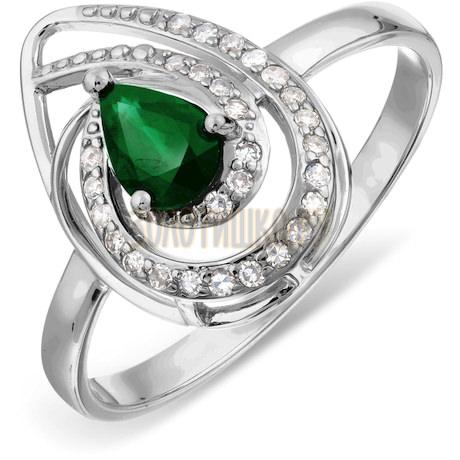 Кольцо с изумрудом и бриллиантами Т306017794_3