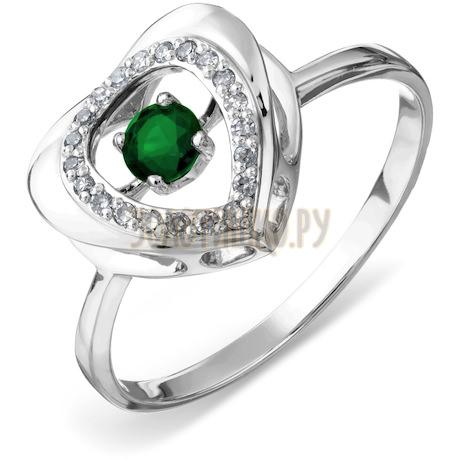 Кольцо с изумрудом и бриллиантами Т306017906_2