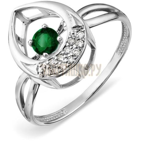 Кольцо с изумрудом и бриллиантами Т306017908