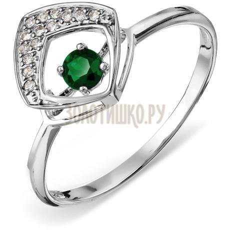 Кольцо с изумрудом и бриллиантами Т306017909_3