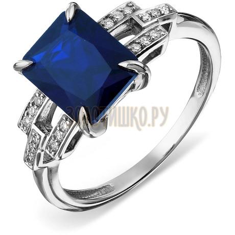 Кольцо с бриллиантами и сапфиром Т306017940