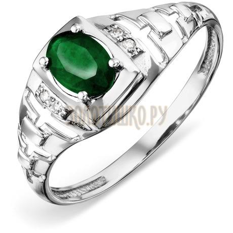 Кольцо с изумрудом и бриллиантами Т306018453_2
