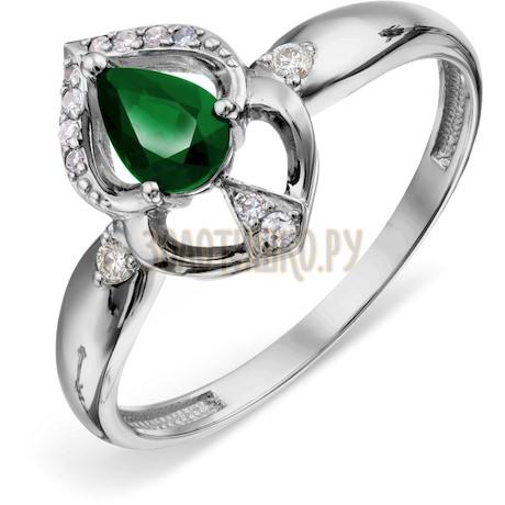 Кольцо с изумрудом и бриллиантами Т306018775