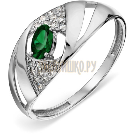 Кольцо с изумрудом и бриллиантами Т306018897