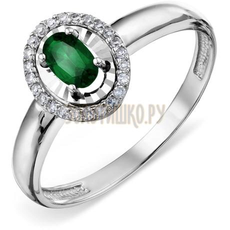 Кольцо с изумрудом и бриллиантами Т306618596