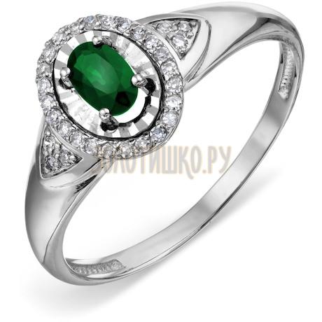 Кольцо с изумрудом и бриллиантами Т306618598_3