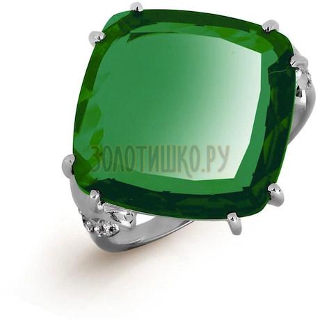 Кольцо с кварцем и фианитами Т307016570-01