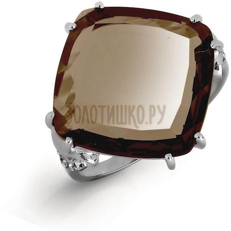 Кольцо с кварцем и фианитами Т307016570-02