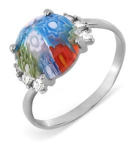 Кольцо с ювелирным стеклом и фианитами Т307017363