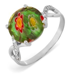Кольцо с ювелирным стеклом и фианитами Т307017387