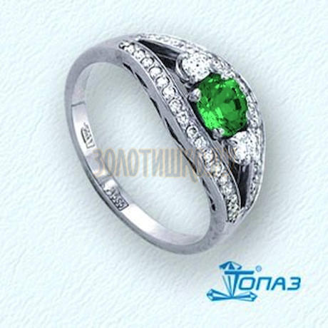 Кольцо с изумрудом и бриллиантами Т331011322