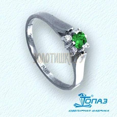 Кольцо с изумрудом и бриллиантами Т331011538_3