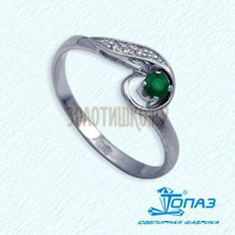 Кольцо с изумрудом и бриллиантами Т331012060_3