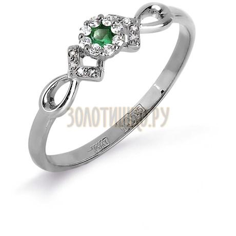 Кольцо с изумрудом и бриллиантами Т331017124_2