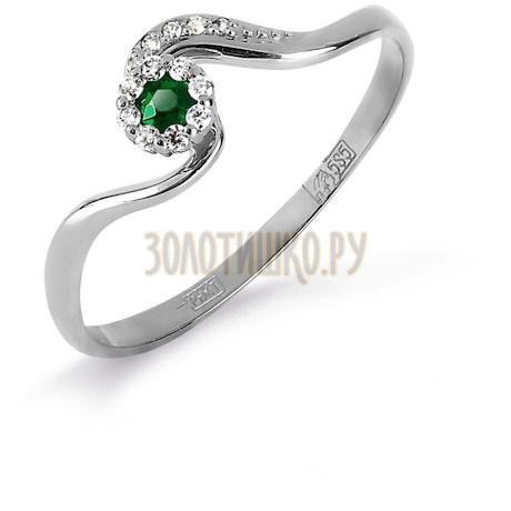 Кольцо с изумрудом и бриллиантами Т331017125_3
