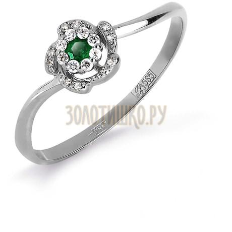 Кольцо с изумрудом и бриллиантами Т331017126_3