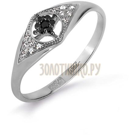 Кольцо с бриллиантами и Swarovski Zirconia Т331017137-01