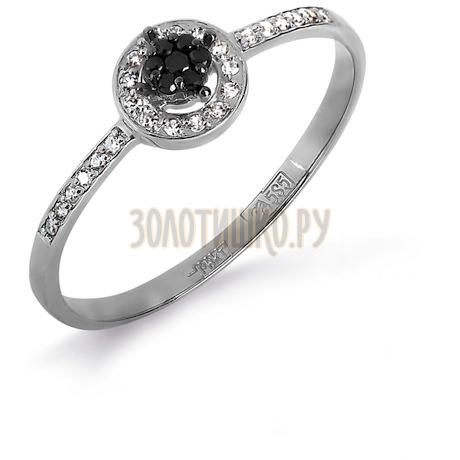 Кольцо с бриллиантами и Swarovski Zirconia Т331017139-01