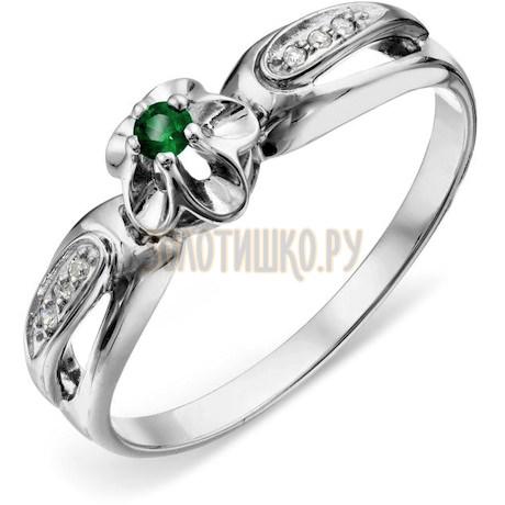 Кольцо с изумрудом и бриллиантами Т331018904_3