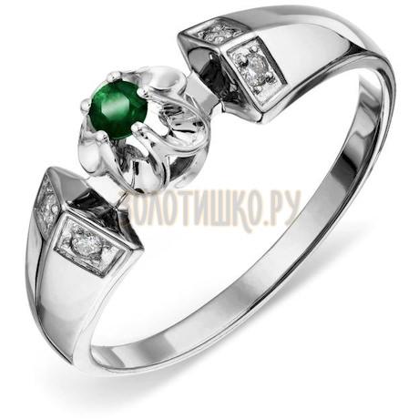 Кольцо с изумрудом и бриллиантами Т331018905_2