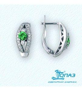 Серьги с изумрудами и бриллиантами Т331021197_3