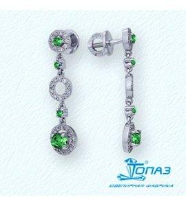 Серьги с изумрудами и бриллиантами Т331021645_3