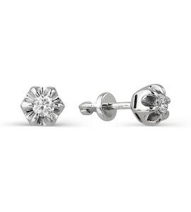 Серьги с бриллиантами Т331021812
