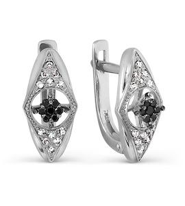 Серьги с бриллиантами и Swarovski Zirconia Т331027267-01