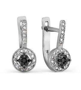 Серьги с бриллиантами и Swarovski Zirconia Т331027269-01