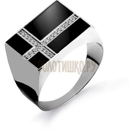 Кольцо с бриллиантами и эмалью Т381044872