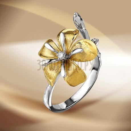 Кольцо с бриллиантом Т391013218