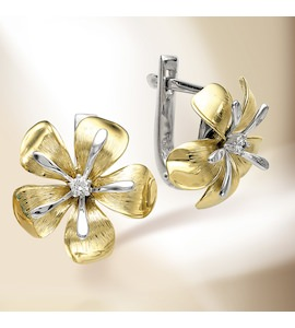 Серьги с бриллиантами Т391024006