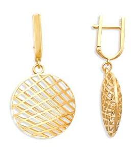 Серьги из желтого золота Т900622131