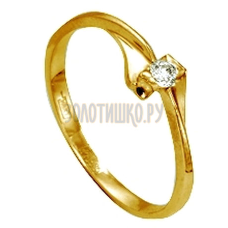 Кольцо с бриллиантом Т901011564