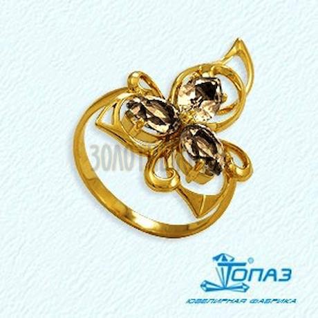 Кольцо с раухтопазами Т901012118_5