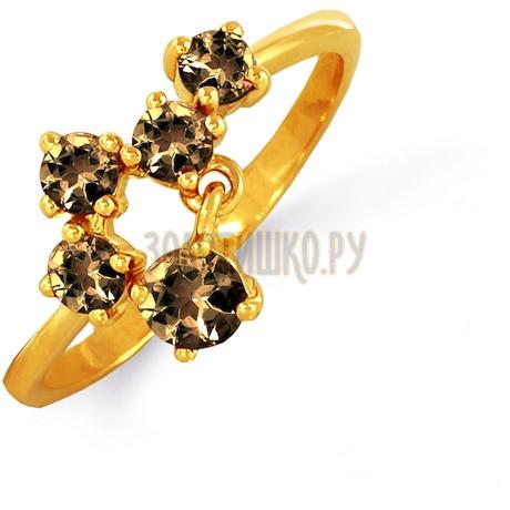 Кольцо с раухтопазами Т901012682_3