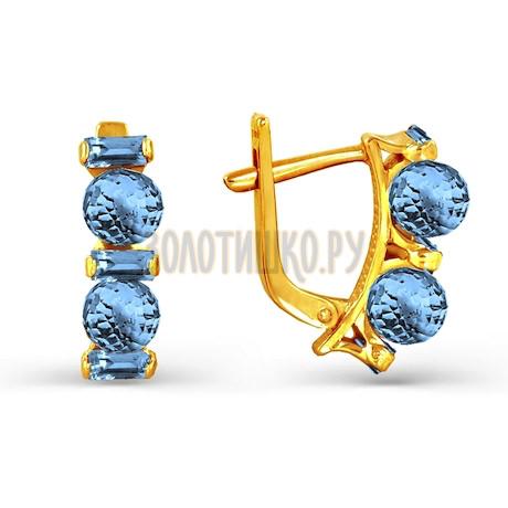 Серьги с топазами Т901023641_6
