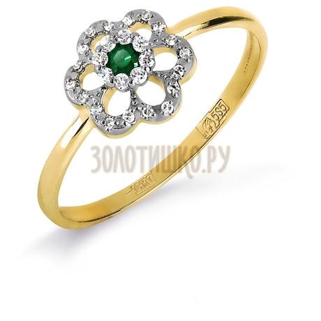 Кольцо с изумрудом и бриллиантами Т931017127