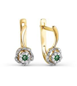 Серьги с изумрудами и бриллиантами Т931027257_3