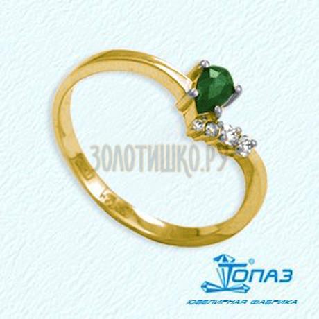 Кольцо с изумрудом и бриллиантами Т941011971_3